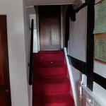 Narrow stairway to our room