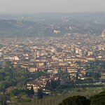 Panorama of Florence seen from upper terrace