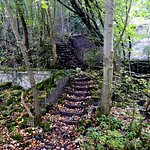 Steps to old mine workings
