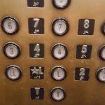 Grimy, dirty elevator panel