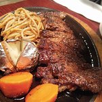 Japanese steak with noodle