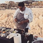 Private Chef (Luis) joined us for Hook and Cook and made us some ceviche