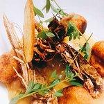Petit pain au pavot , pain aux céréales et poulet aux écrevisses ..