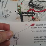 i even took a pic of her biz card- art is all thin metal