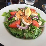 salad of the day:  grilled shrimp salad yummy!
