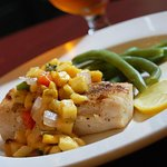 Seafood Options like Mahi Mahi and fresh Chef's Vegetables