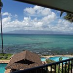 View from the second floor balcony at the Noelani
