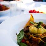 Zucchininispaghetti, vegan maincourse.