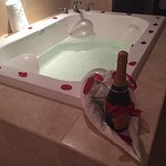 They ran us a hot tub and champagne!