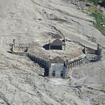 church covered in ash from eruption on Montserrat