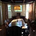 This is the formal dining room at the Daisy Polk Inn