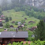The View from Room 25...dont miss the yellow train going to Wengen