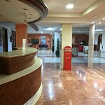 Reception .. Empty with no staff .. keep looking in one of the other hotels to find someone