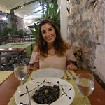 black squid risotto - very nice