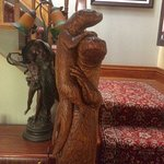 Carved railing post