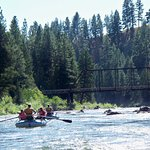 White water river rafting on the Blackfoot River!
