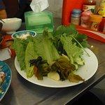 Salad to accompany clay pot