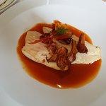 Filet de St pierre sauce aux crustacés et champignons