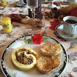 The breakfast was splendid , and very tasteful delicious!