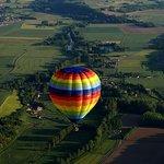 vols en montgolfière au dessus de la Loire