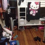 Hostel room or 16-year-old's messy bedroom? Basically no difference.