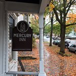 The Mercury Inn is on a residential, tree-lined street. It's lovely in the Fall!