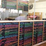 Extensive, colorful sandwich list. Photgraphed with permission.
