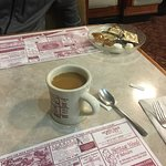Classic diner decor and great portions for the price with friendly service