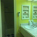 Bathroom view...very bright! LOL