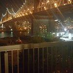 View of Queens bridge at night
