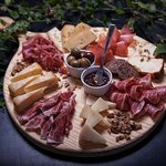 Autumn Seasonal Board of cheeses and cured meats