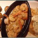 Garlic shrimp and cod