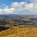 View from the top of Ben Vrackie, (looking toward Caringorm's.
