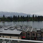 Fifth Floor view back at wharf and Remarkables