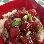 Ahi tuna bow with Jasmine Cilantro lime rice