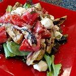 Caprese eggpant salad