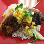 Blackened Snapper with Mango Salsa