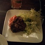 Lamb Chop (Romesco and Arugula)