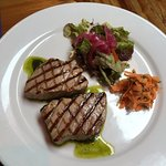 Chargrilled tuna medallions