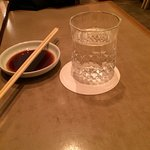 Saki by the glass rather than by the small vase