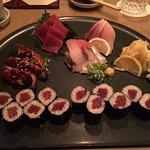 A la cart tuna, amber jack, eel, spanish mackerel, tekka roll