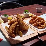 fish and chips y rabas
