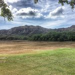 View of Diamondhead crater rim from parking lot area.