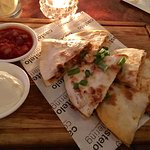 Chicken Quesadillas, the salsa sauce is perfect, the spiciness is just fine !