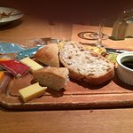 The bread meal with the addition of packaged cheese from the breafast bar.