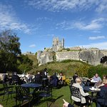View Of Corfe Castle From N T Cafe