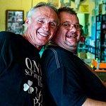 Two happy Mars Bar customers