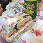 Lox and bagel sandwich