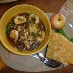 Half Sandwich with Thai Soup Bowl