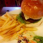 Burger and chips stunning